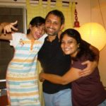 Neeraj Kabi With His Wife and Daughter