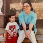 Niharika Bhattacharya childhood pic with her Mother