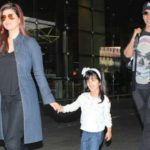 Nitara With Her Father Akshay Kumar and Mother Twinkle Khanna