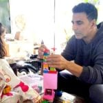 Nitara With Her Father Akshay Kumar