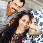 Pearl V Puri with his parents