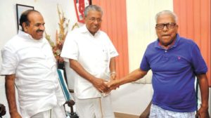 Pinarayi Vijayan With His Biggest Rival, V. S. Achuthanandan
