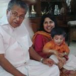 Pinarayi Vijayan With His Daughter