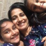 Poorva Gokhale with her daughters