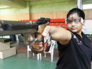 Rahi Sarnobat During her Practice Session