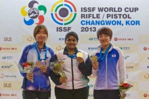 Rahi Sarnobat Bagged Gold at the ISSF World cup 2013