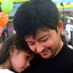 Rahul Lohani with his daughter