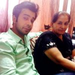 Rahulram Manchanda with his mother