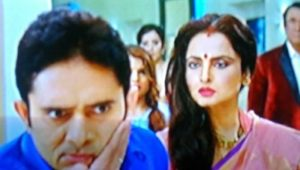 Rajeev Bhardwaj in Super Nani alongside Rekha