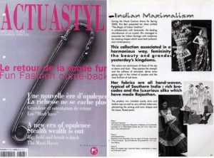 Ritu Beri featured in PROMOSTYL's Acuastyl