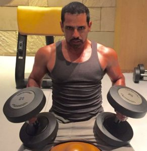 Robert Vadra while Working Out