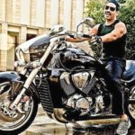 Robert Vadra on the Suzuki Boulevard Cruiser 1800