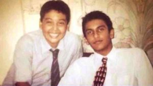 Rohan Shrestha's childhood photo with Ranveer Singh
