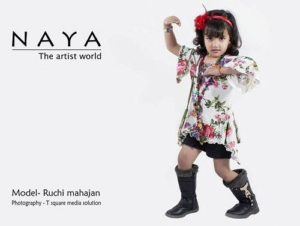 Ruchi Mahajan doing modelling for Naya brand