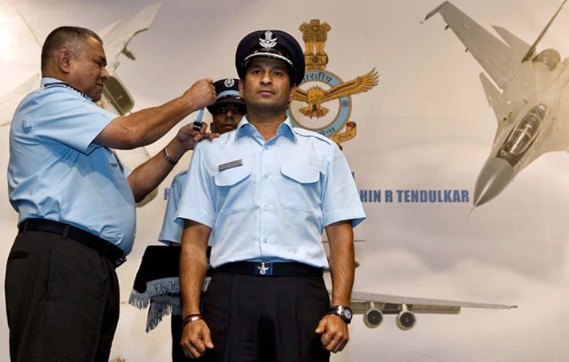 Sachin Tendulkar As Group Captain of The Indian Air Force