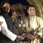 Sachin Tendulkar Receiving Maharashtra Bhushan Award