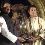 Sachin Tendulkar Receiving Maharashtra Bhushan Award