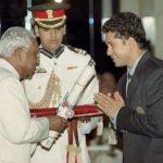 Sachin Tendulkar Receiving Padma Shri