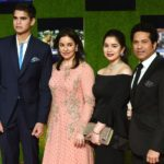 Sachin Tendulkar With His Wife, Daughter And Son