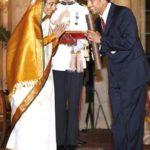 Sachin Tendulkar With Padma Vibhushan
