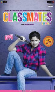 Sai Tamhankar in the role of a tomboy (Appu) in the movie Classmates (2015)