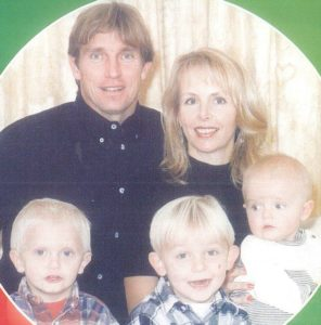 Sam Curran with his brothers and parents in his childhood