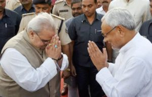 Satya Pal Malik with Bihar CM Nitish Kumar