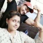 Saurish Singh Athwal with his sister