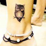 Sayali Sanjeev owl tattoo