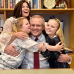 Scott Morrison with his wife and daughters