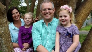 Scott Morrison with his wife and kids