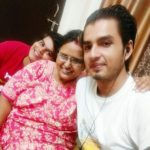 Shashwat Tripathi with his mother and brother