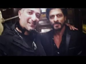 Shataf Figar during the shoot of the ad film with Shah Rukh Khan