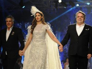 Shweta Bachchan Nanda with Abu Jani and Sandeep Khosla