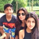Shweta Bachchan Nanda with her Children