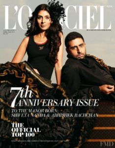 Shweta Bachchan in L'Officiel India