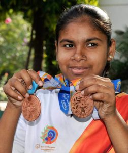 Sita Sahu with her two Olympic Medals