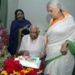 Somnath Chatterjee with his wife Renu Chatterjee