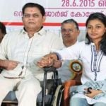 Sreelakshmi Sreekumar with her father