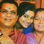 Sreelakshmi Sreekumar with her parents