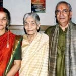 Suhasini Mulay with her mother Vijaya Mulay and husband Atul Gurtu