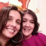 Sujata Kumar (Right) with her Sister