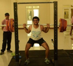 Udit Kapur during his workout