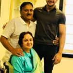 Udit Kapur with his parents