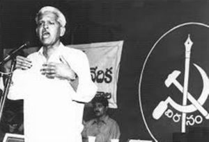 Varavara Rao giving speech