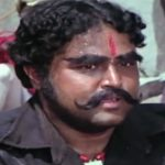 Viju Khote as 'Kaalia' in the movie Sholay (1984)