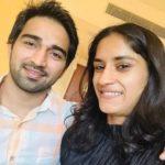 Vinesh Phogat with Somvir Rathee