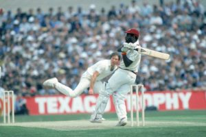 Viv Richards playing a shot during his 189