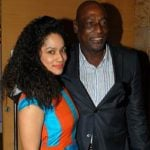 Viv Richards with his daughter