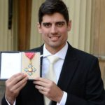 Alastair Cook receiving CBE